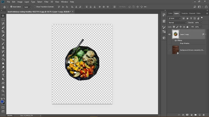 buat project baru di photoshop