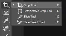 pilih crop tool